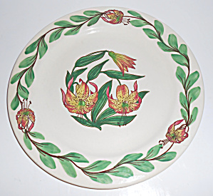 Pacific Pottery Hand Decorated Tiger Lily 9-3/4 Plate! (Image1)