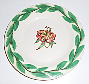 Pacific Pottery Hand Decorated Tiger Lily 6 Plate