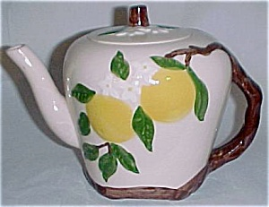 ORCHARD WARE ORANGE BLOSSOM LARGE TEAPOT! (Image1)