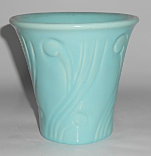 "Pacific Pottery Art Deco 5"" Turq Flowerpot"