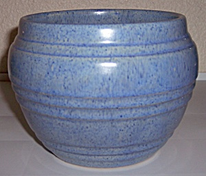 Pacific Pottery Banded Blue Drip Jardiniere