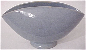 "ZANESVILLE STONEWARE POTTERY BLUE 10"" BOWL! (Image1)"