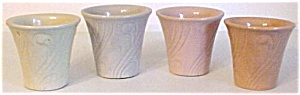 "Pacific Pottery Art Deco 3-1/2"" Yellow Flowerpot"