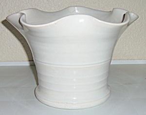 Bauer Pottery Large White Matt Carlton Vase! (Image1)