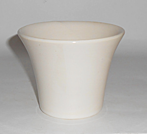Bauer Pottery 4in White Spanish Flower Pot Mint