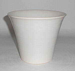 Franciscan Tropico Pottery 5in White Flower Pot Mint