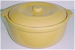Click to view larger image of GARDEN CITY POTTERY LARGE YELLOW CASSEROLE! (Image1)