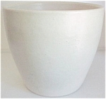 """Click here to enlarge image and see more about item 10659: Garden City Pottery 8.75"""" White Conical Flowerpot"""