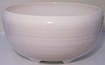 FRANCISCAN POTTERY EL PATIO GLOSS WHITE PUNCH BOWL!