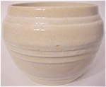 "PACIFIC POTTERY BANDED WHITE 6"" JARDINIERE!"