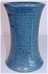 "Click to view larger image of Bauer Pottery Matt Carlton 6.5"" Cobalt Vase (Image1)"