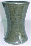 Click to view larger image of BAUER POTTERY MATT CARLTON 6 GREEN CARNATION VASE! (Image1)