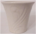 "PACIFIC POTTERY ART DECO 3.5"" WHITE FLOWER POT"