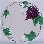 Click here to enlarge image and see more about item 11823: PACIFIC POTTERY GRAPE DECORATED DINNER PLATE!