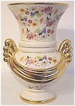 Click to view larger image of ABINGDON POTTERY HUGE FLORAL GOLD DECORATED VASE! (Image1)