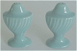 FRANCISCAN POTTERY CORONADO  TURQ SALT/PEPPER SHAKERS!
