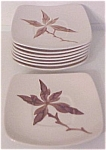 CALIFORNIA CERAMICS ORCHARD WARE FLORAL SET/8 SAUCERS!