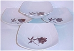 CALIFORNIA CERAMICS ORCHARD WARE FLORAL SET/4 VEG BOWLS