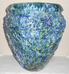 Click to view larger image of Peters And Reed Pottery Huge Blended Glaze Floor Vase! (Image1)