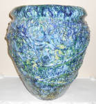 Click to view larger image of Peters And Reed Pottery Huge Blended Glaze Floor Vase! (Image3)