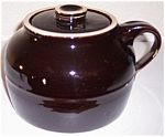 BAUER POTTERY PLAIN WARE BROWN BEAN POT W/LID!
