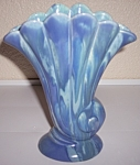 PACIFIC POTTERY BLUE DIP ART SHELL VASE!