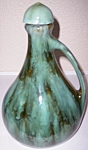 BRUSH McCOY POTTERY GREEN ONYX MUSICAL JUG W/CAP!