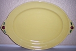 Click to view larger image of COORS POTTERY ROSEBUD YELLOW PLATTER - FLAWLESS! (Image1)