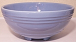 PACIFIC POTTERY HOSTESS WARE LT BLUE FOOTED SALAD BOWL!