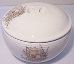 COORS POTTERY OPEN WINDOW TRIPLE SERVICE CASSEROLE !