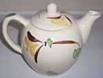 Click to view larger image of PURINTON POTTERY YELLOW IVY LARGE TEAPOT! (Image1)