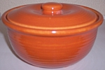 GARDEN CITY POTTERY RING WARE CASSEROLE W/LID!