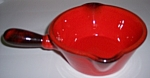 METLOX POTTERY POPPY TRAIL RED ROOSTER GRAVY BOWL!