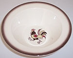 METLOX POTTERY POPPY TRAIL RED ROOSTER CEREAL BOWL!