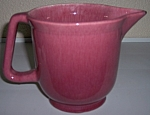 Click to view larger image of METLOX POTTERY SERIES 200 OLD ROSE BEATING PITCHER! (Image1)