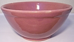 Click to view larger image of BAUER POTTERY PLAIN WARE DUSTY ROSE #18 MIXING BOWL! (Image1)