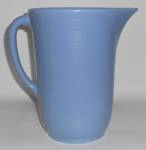 FRANCISCAN POTTERY EL PATIO SATIN BLUE BEER PITCHER!