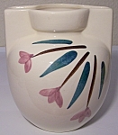 "Click to view larger image of PURINTON POTTERY FLORAL DECORATED 5-3/4"" VASE! (Image1)"