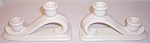 PACIFIC POTTERY SATIN WHITE CANDLESTICK HOLDERS!