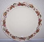 Click to view larger image of PACIFIC POTTERY HAND DECORATED AUTUMN LEAVES CHOP PLATE (Image1)