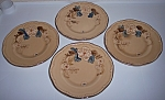 FRANCISCAN POTTERY BOUQUET SET/4 BREAD PLATES!