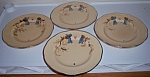 FRANCISCAN POTTERY BOUQUET SET/4 SALAD PLATES!