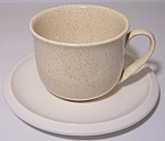 FRANCISCAN POTTERY SCULPTURES PRIMARY SAND CUP/SAUCER!