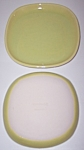 WINFIELD CHINA POTTERY EARLY YELLOW PAIR BREAD PLATES!