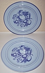 FRANCISCAN POTTERY PAIR EARLY FRUIT LUNCH PLATES!