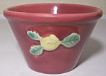COORS POTTERY ROSEBUD RED CUSTARD CUP!