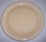 FRANCISCAN POTTERY SCULPTURES SAND NAUTILUS DINNER PLT!