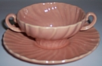 FRANCISCAN POTTERY CORONADO GLOSS CORAL CREAM SOUP/SAU!