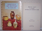 Click here to enlarge image and see more about item 16549884: ROSEVILLE ART POTTERY IN COLOR 1970 BOOK FIRST PRINTING