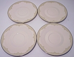 FRANCISCAN POTTERY FINE CHINA CASTILE SET/4 SAUCERS!